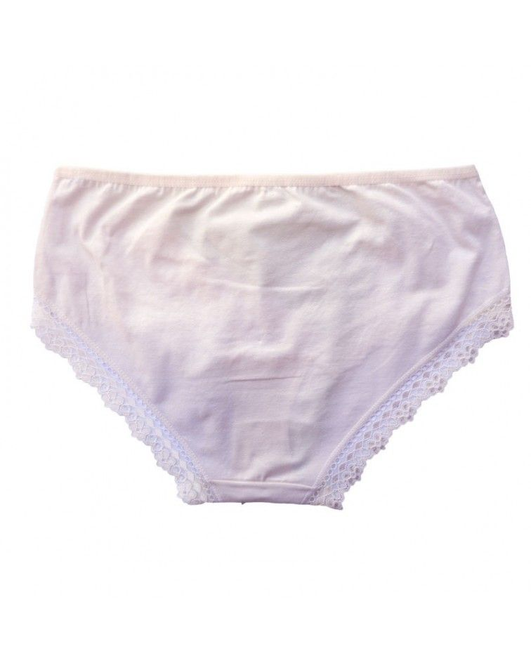 Women panty, elastic, lace, cream