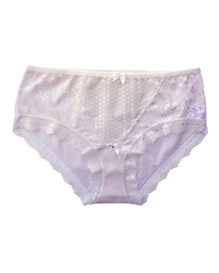 Women panty, elastic, lace, cream