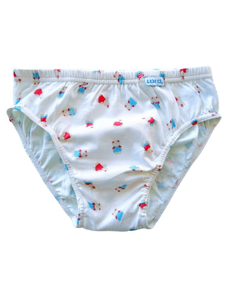 Boys Brief Printed, white