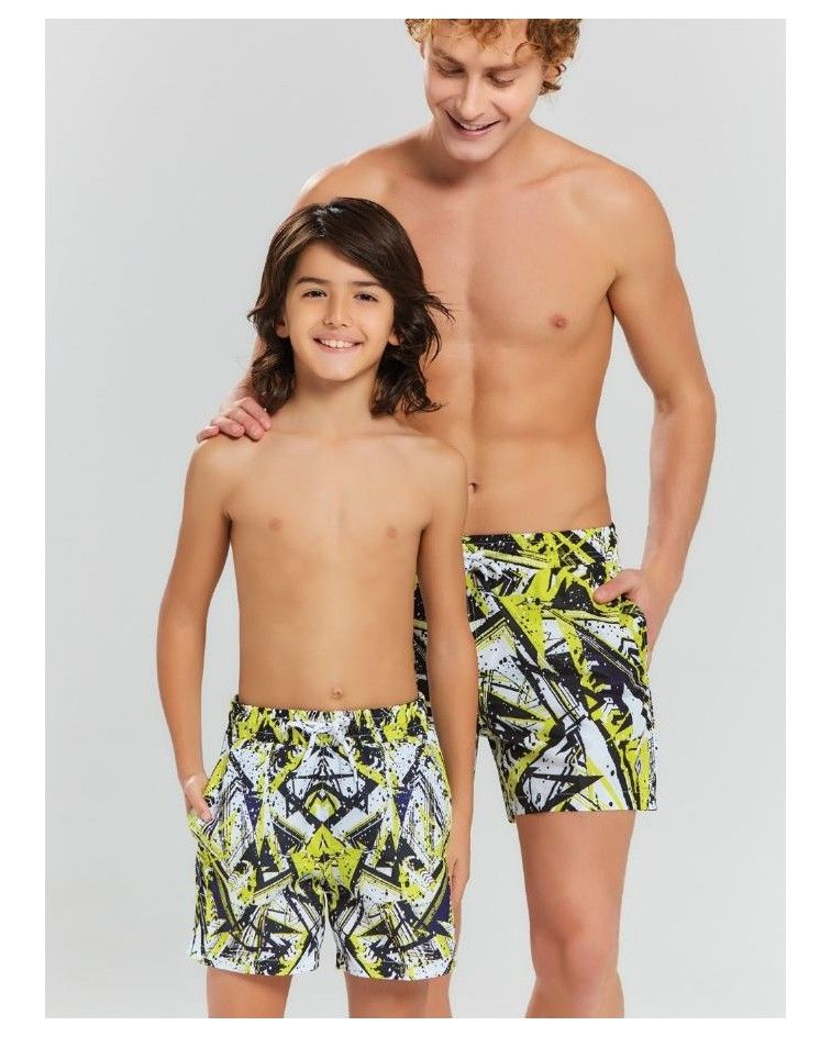 Men swimwear, yellow