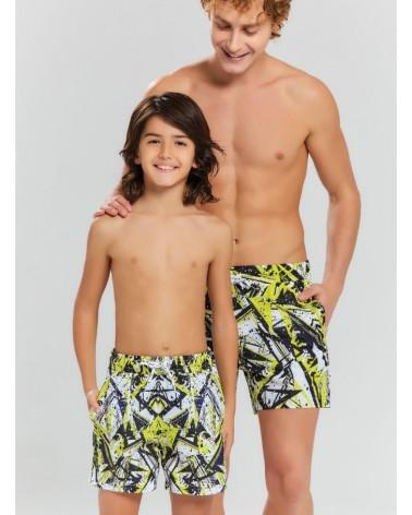 Men swimwear, yellow