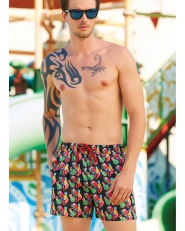 Men swimwear, parrot