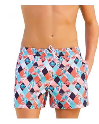 Men swimwear, flamingos