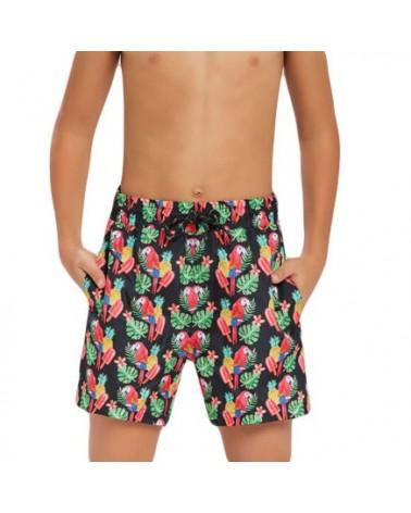 Boys swimwear, parrot