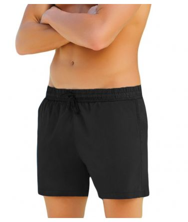 Men swimwear sorts, black