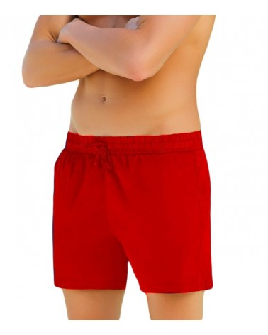 Men swimwear sorts, red