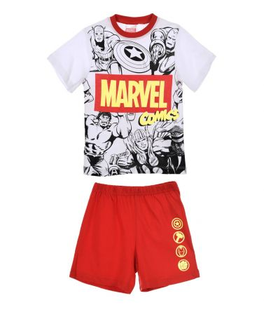 Boys Pyjama Super Heroes, red