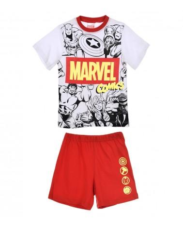 Boys Pyjama Super Heroes, red