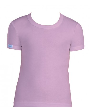 T-Shirt, Open neck, pink