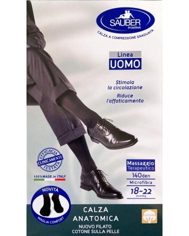 Κάλτσες γόνατος συμπίεσης 18-22mmHg, Βαμβάκι