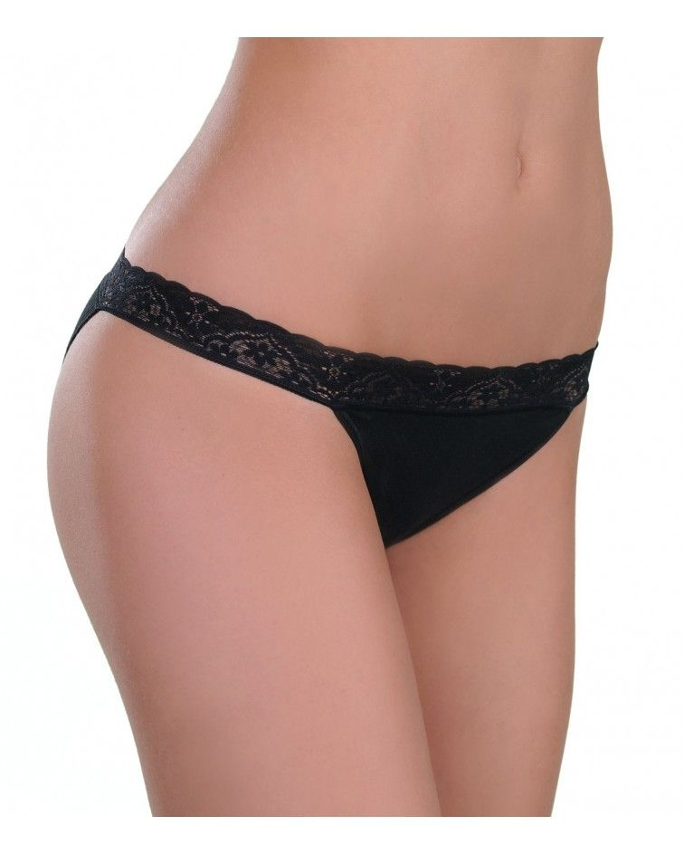 Panty Tanga, lace, black