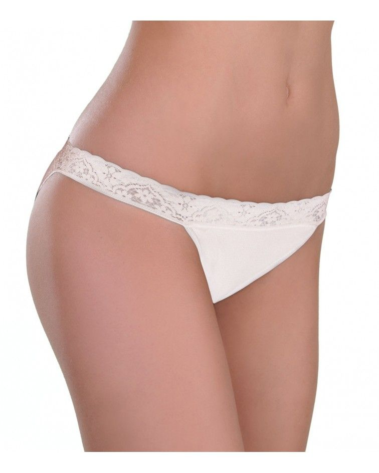 Panty Tanga, lace, white