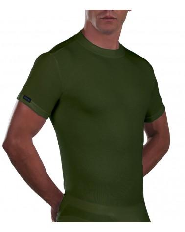 T-Shirt, crew neck, Cotton, khaki