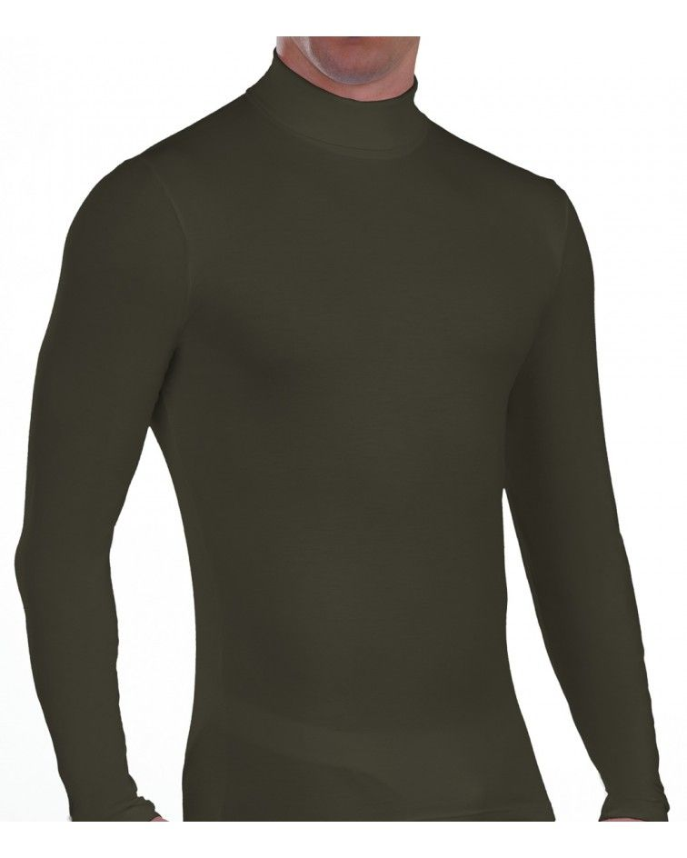 Men turtle neck, Long Sleeve, khaki