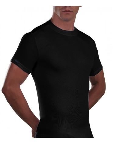 Cotton T-Shirt, crew neck, big sizes, black