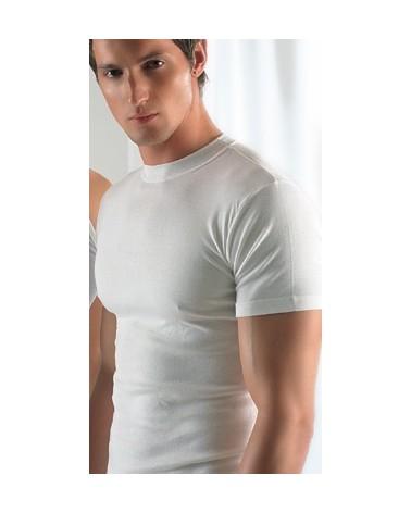 Cotton T-Shirt, crew neck, big sizes, white