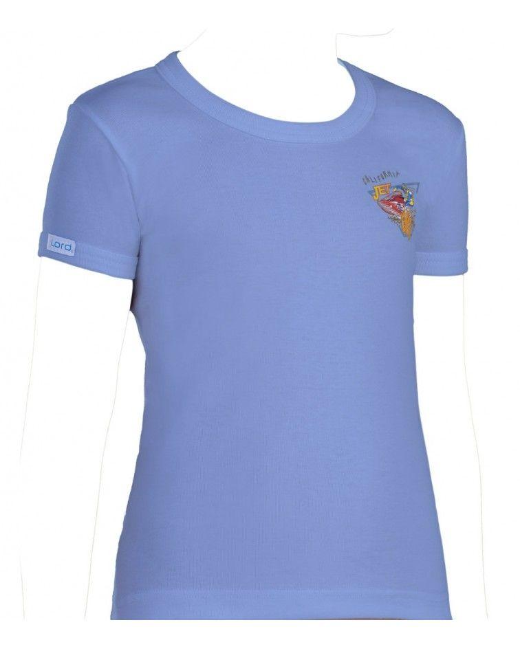 T-Shirt, Print, light blue