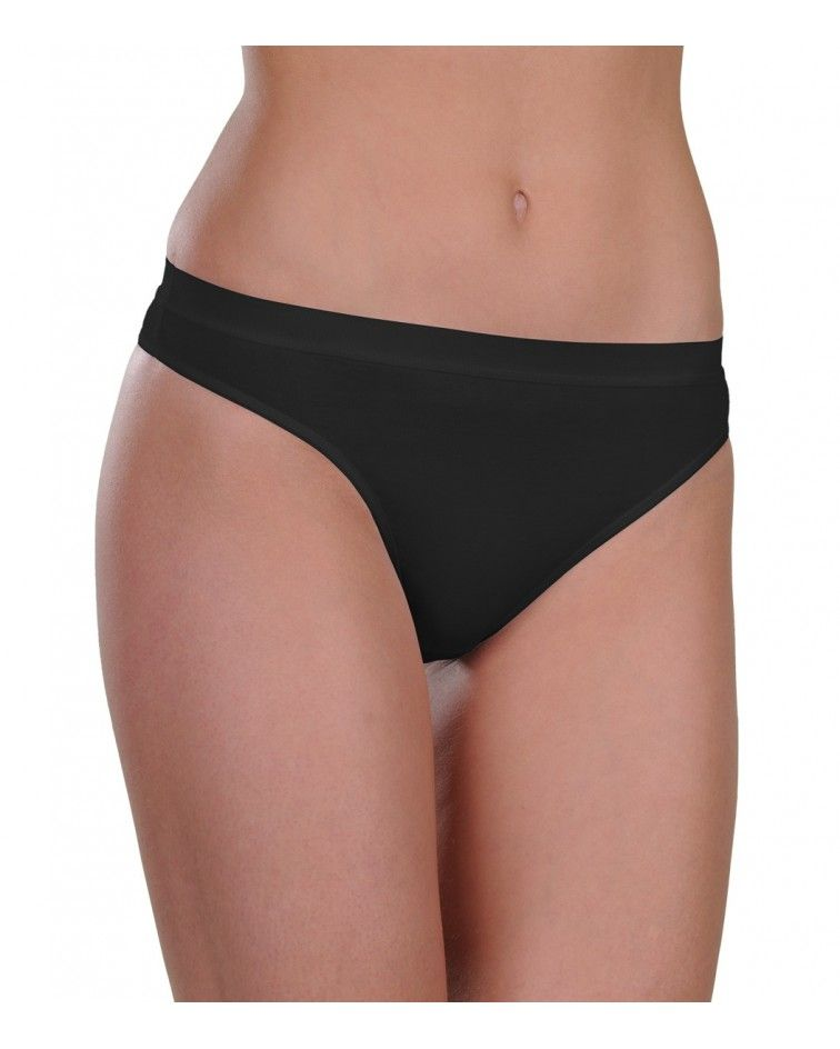 Panty, string, black