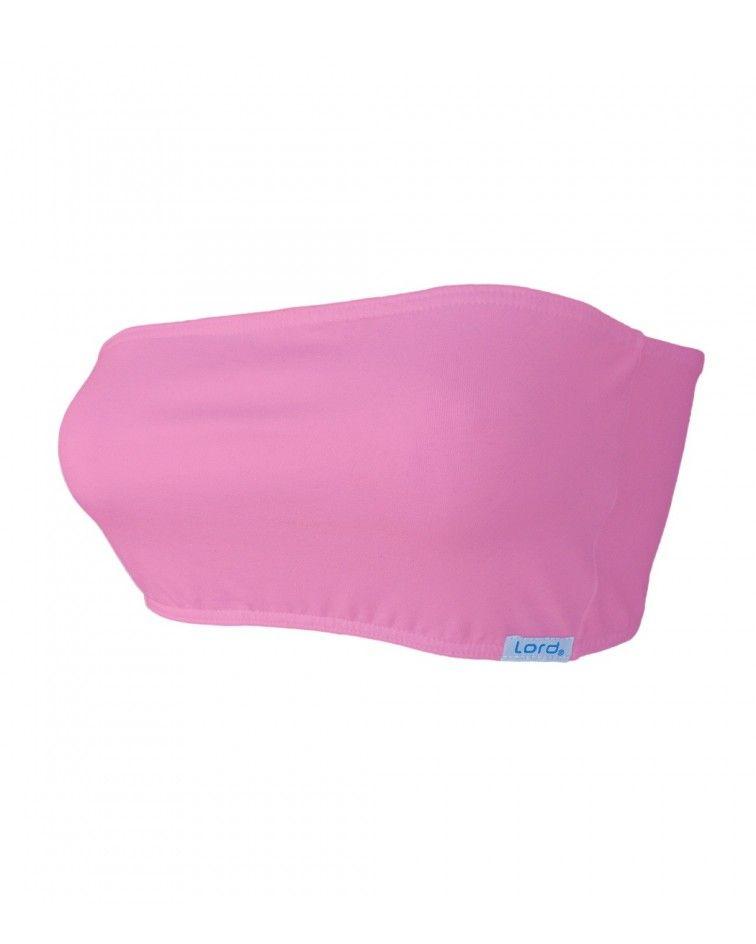 Γυναικείο Στραπλες, ελαστικό, ροζ