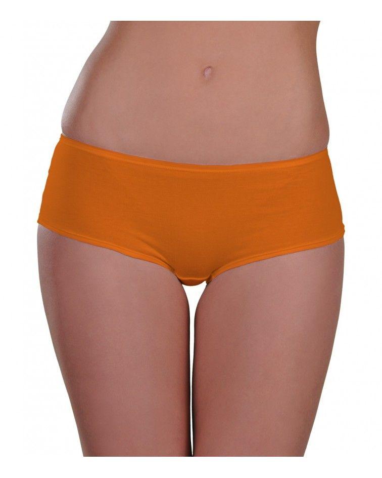 boxer, cotton, orange