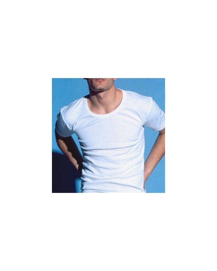 Open Neck T-Shirt, white2