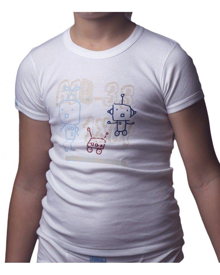 T-Shirt, Cotton, Robots