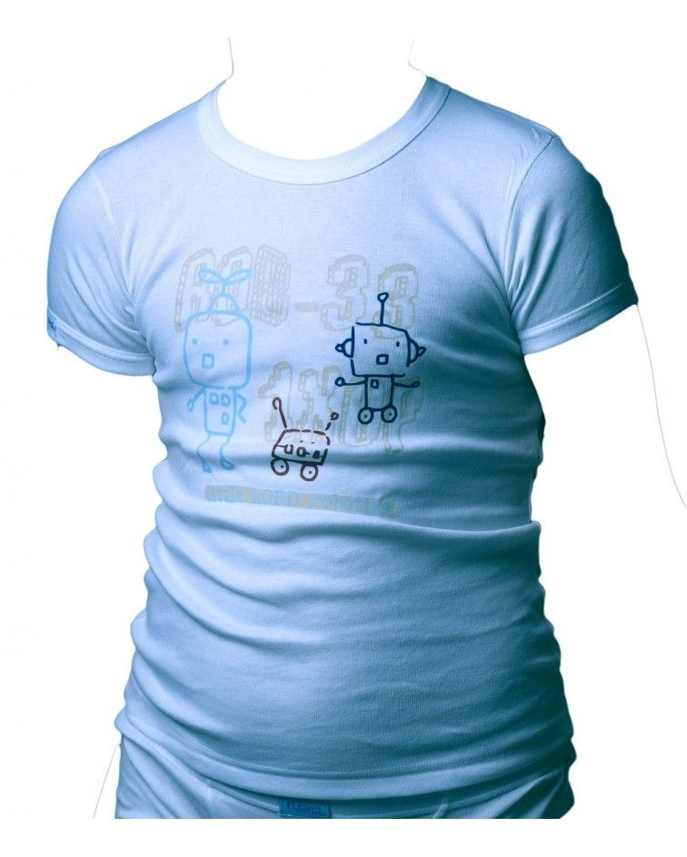 T-Shirt, Cotton, Robots