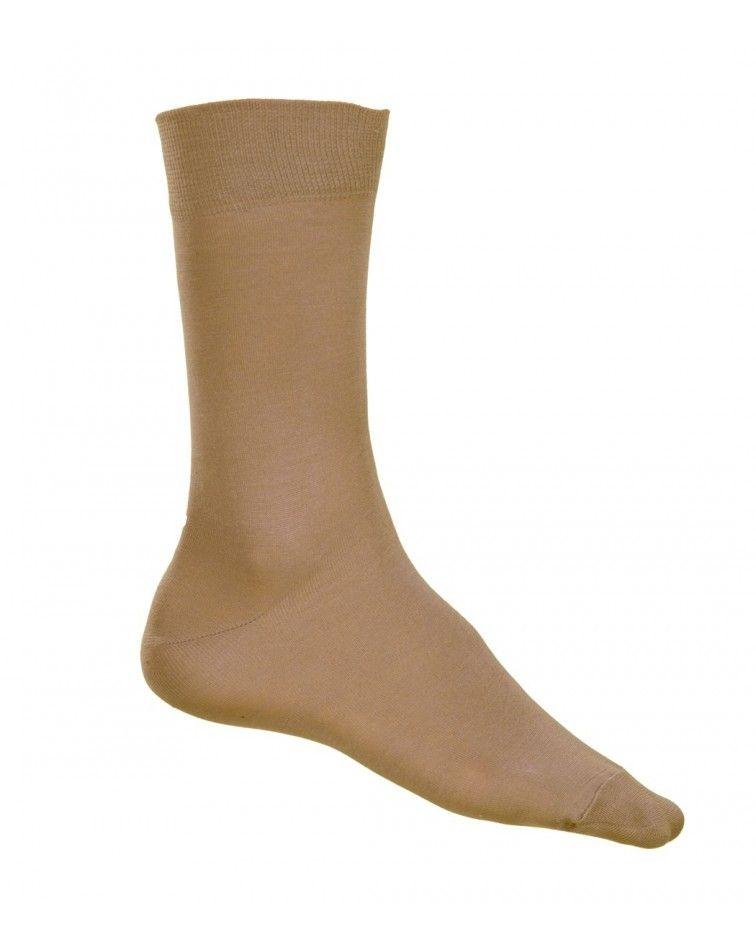 Κάλτσα γυαλιστερή Βαμβακερή, μπεζ