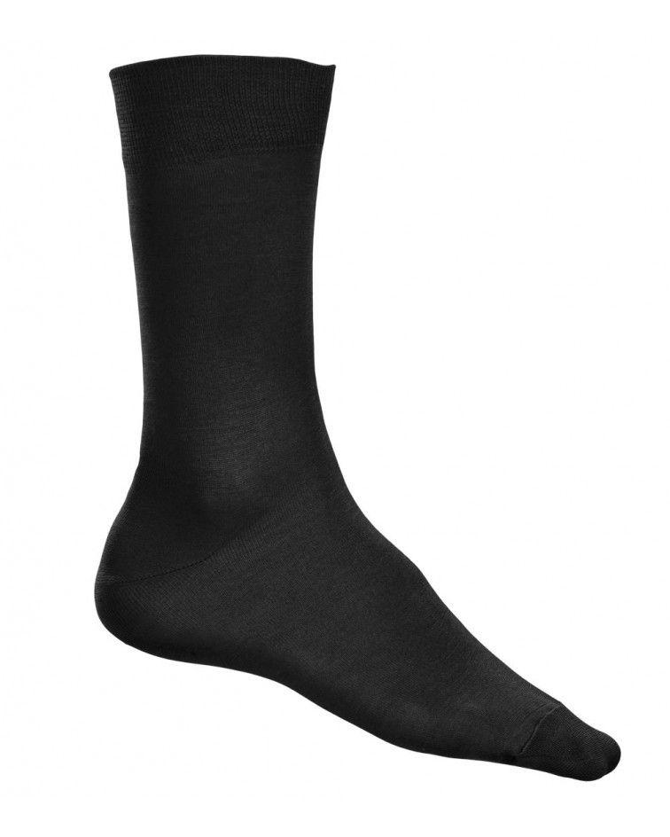 Κάλτσα γυαλιστερή Βαμβακερή, μαύρη