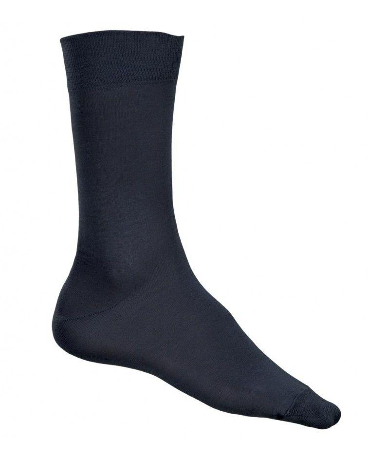 Κάλτσα γυαλιστερή Βαμβακερή, ανθρακί