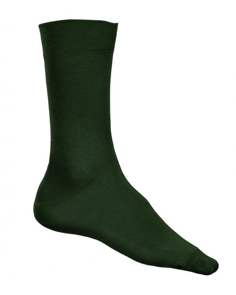 Κάλτσα γυαλιστερή Βαμβακερή, χακί