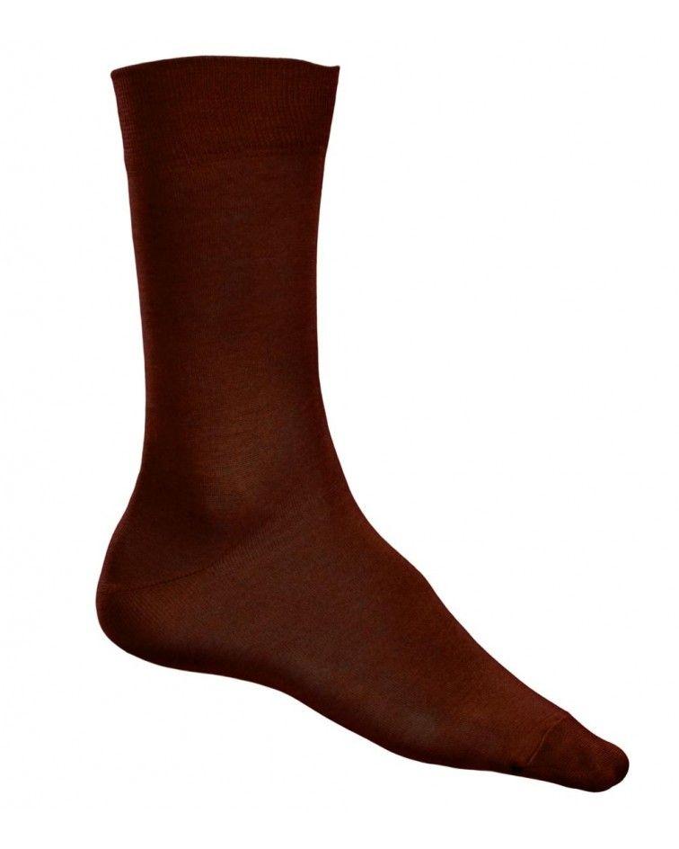 Ανδρική Κάλτσα, ελαστική βαμβακερή, καφέ