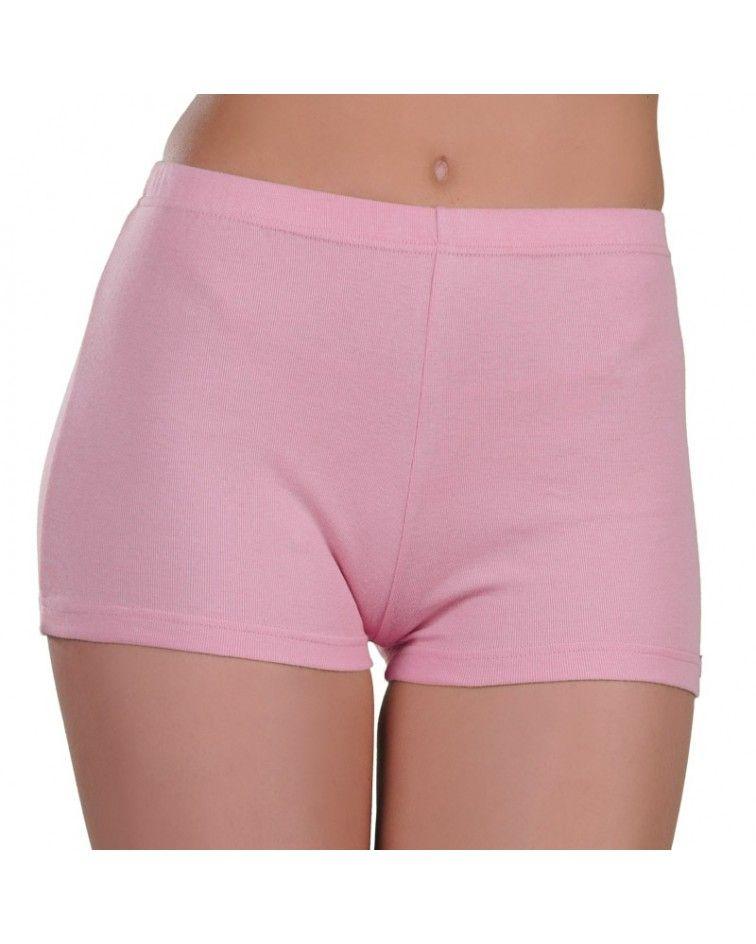 Boxer βαμβακερό λευκό, ροζ