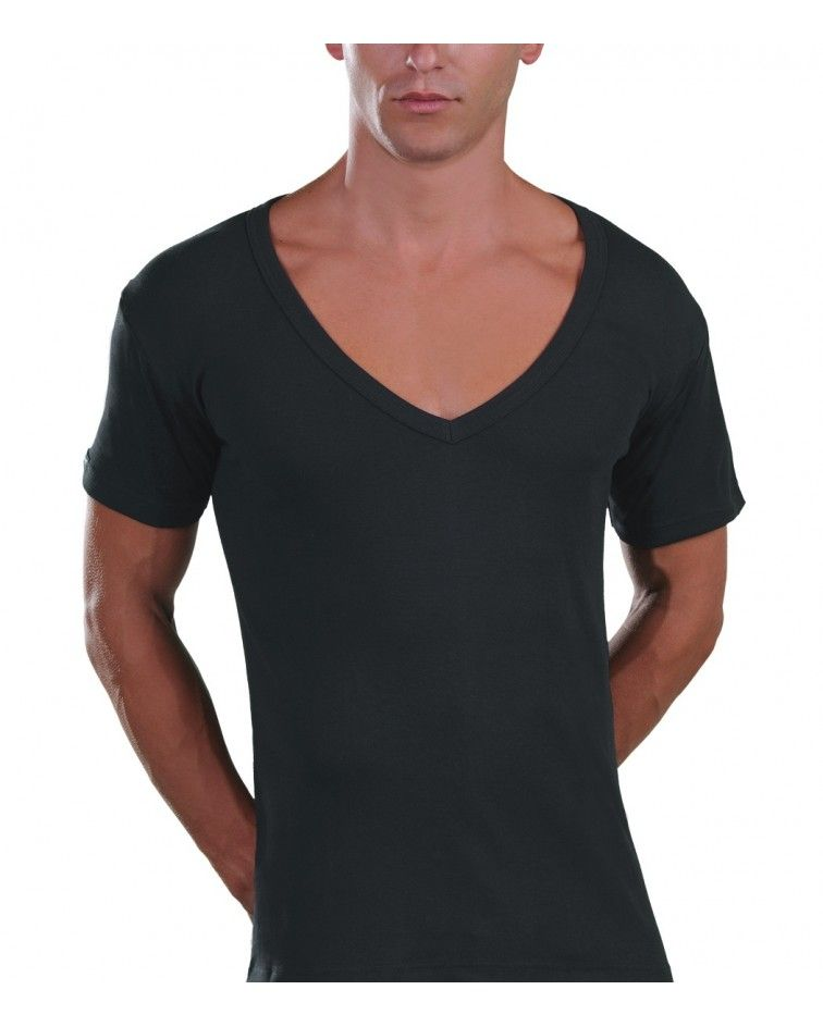 Too Open Neck T-Shirt, charcoal