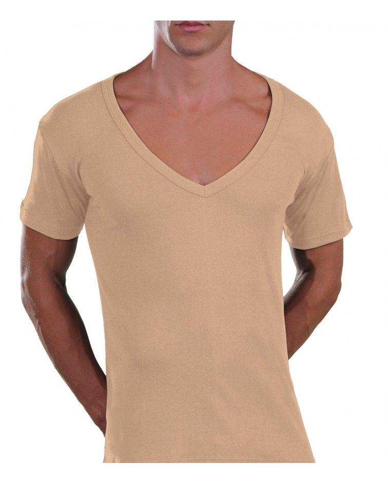 Too Open Neck T-Shirt, beige