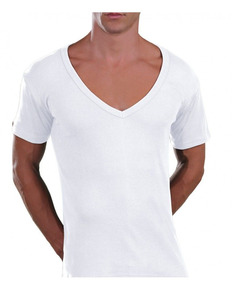 Too Open Neck T-Shirt, white