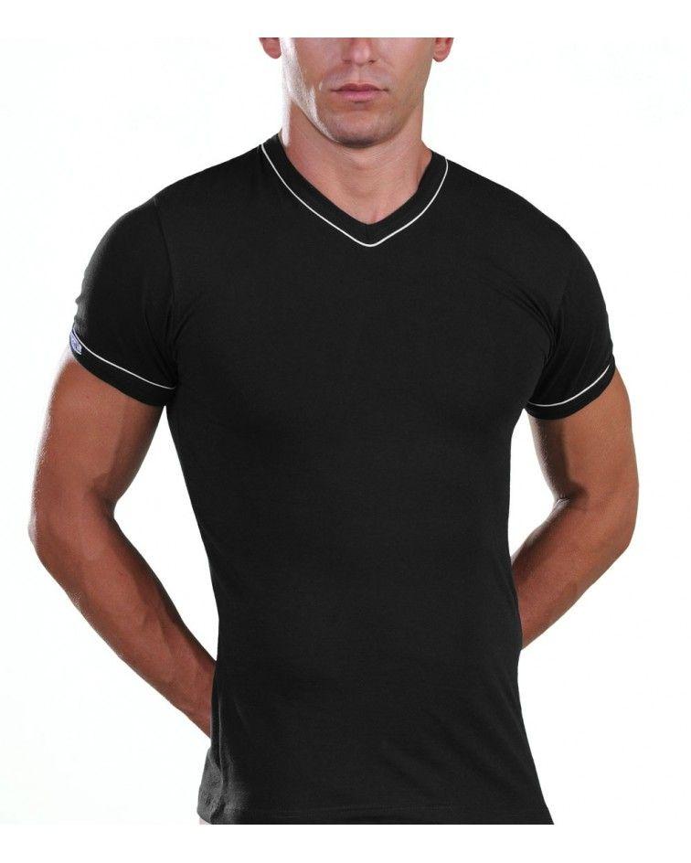 T-Shirt, V Neck, blue