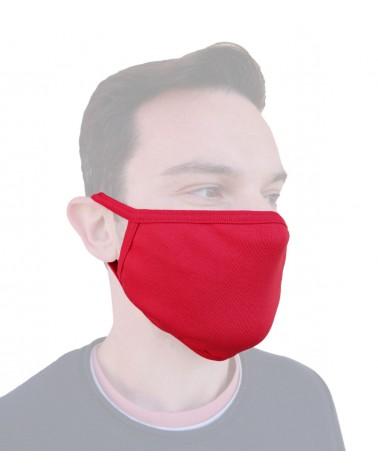 Μάσκα προστασίας υφασμάτινη, κόκκινη