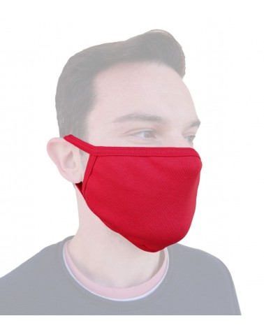 Protection mask, washable, red