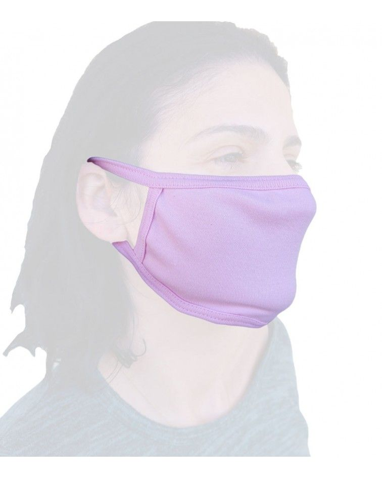 Bαμβακερή Μάσκα γενικής χρήσης, ροζ