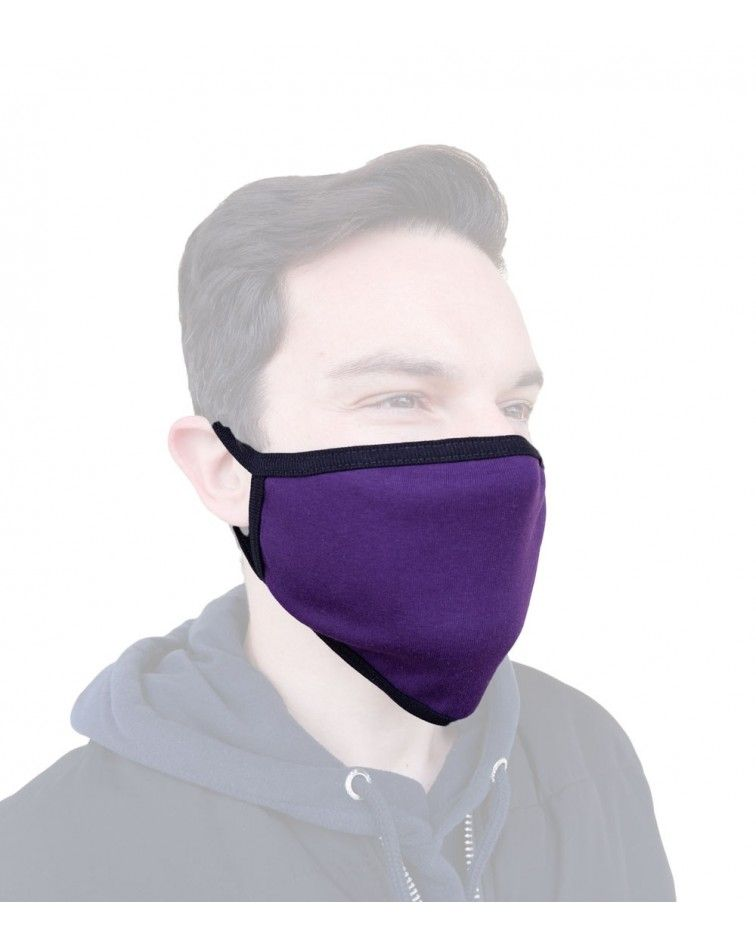 Bαμβακερή Μάσκα γενικής χρήσης, μωβ