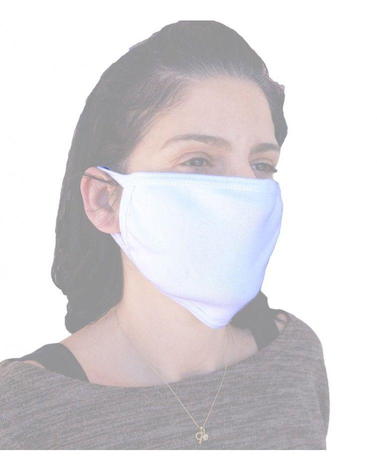 Υφασμάτινη Βαμβακερή Μάσκα επαναχρησιμοποιούμενη, λευκή