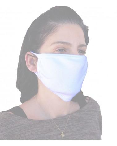 Βαμβακερή Μάσκα επαγγελματία επαναχρησιμοποιούμενη, λευκή