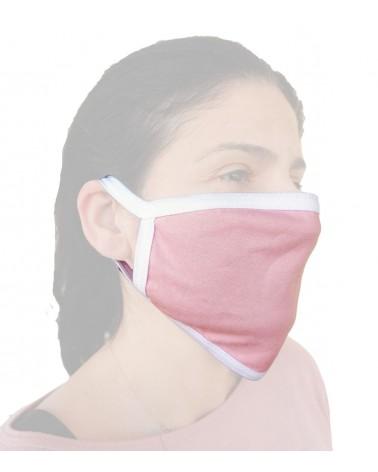 Επαγγελματική Μάσκα Βαμβακερή επαναχρησιμοποιούμενη, ροζ