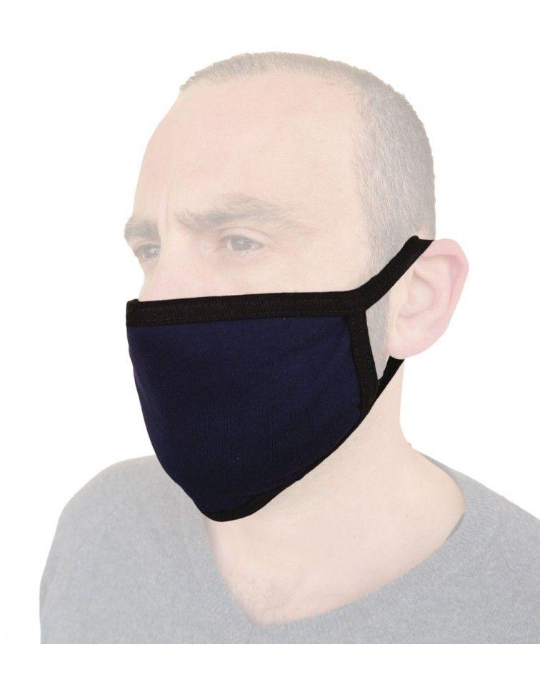 Υφασμάτινη Επαγγελματική Μάσκα Βαμβακερή επαναχρησιμοποιούμενη, μπλε