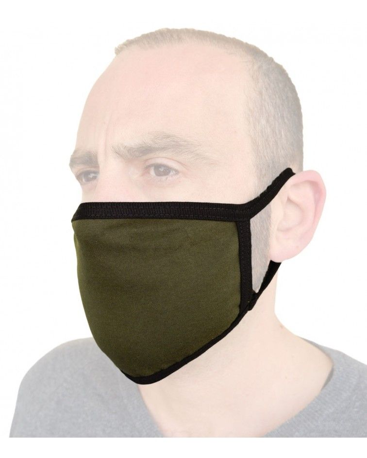 Professional Cotton reusable protection Mask, khaki