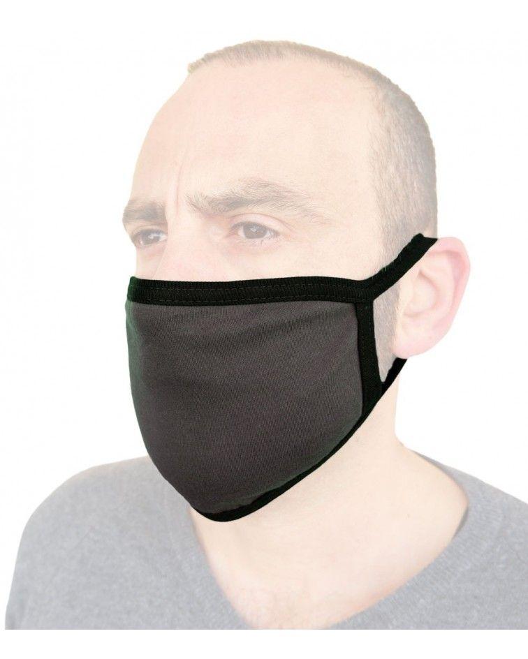 Υφασμάτινη Μάσκα Βαμβακερή επαναχρησιμοποιούμενη, ανθρακί