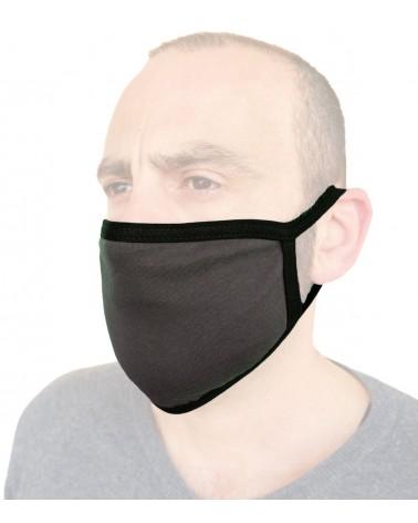 Επαγγελματική Μάσκα Βαμβακερή επαναχρησιμοποιούμενη, ανθρακί