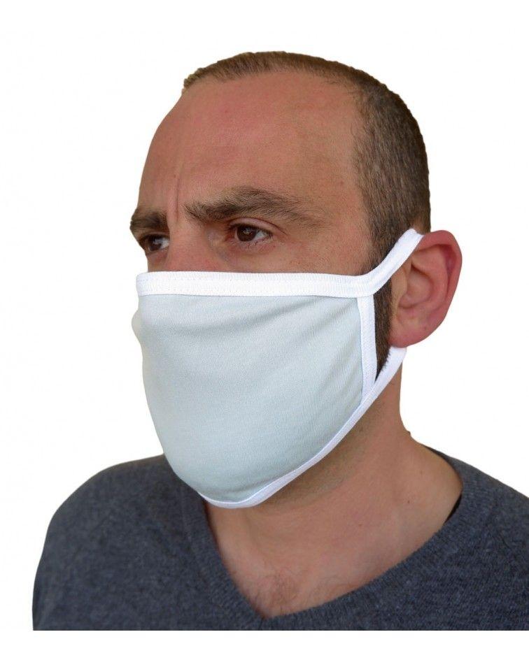 Υφασμάτινη Μάσκα Βαμβακερή επαναχρησιμοποιούμενη, σιελ