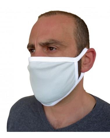 Professional Cotton reusable protection Mask, ciel